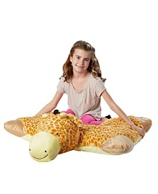 Pillow Pets Signature Jumboz Jolly Giraffe Oversized Stuffed Animal Plush Toy