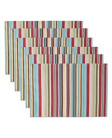 Summer Stripe Polyester Placemat, Set of 6