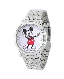 Women's Disney Mickey Mouse Silver Bracelet Watch 38mm