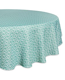 "Diamond Outdoor Tablecloth with Zipper 60"" Round"