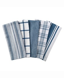 Assorted Stone Woven Dishtowel, Set of 5
