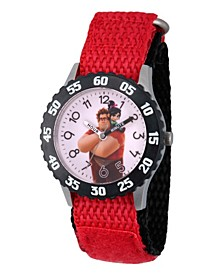 Boy's Disney Red Stainless Steel Time Teacher Strap Watch 32mm