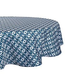 "Ikat Outdoor Tablecloth with Zipper 60"" Round"