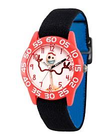 EwatchFactory Boy's Disney Toy Story 4 Forky Black Plastic Time Teacher Strap Watch 32mm