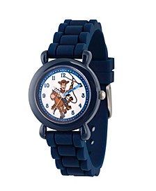 Boy's Disney Toy Story 4 Woody Blue Plastic Time Teacher Strap Watch 32mm