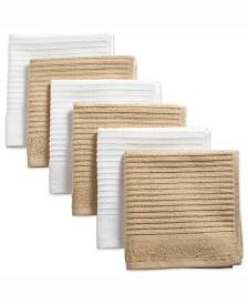 Assorted Pebble Ribbed Terry Dishcloth, Set of 6