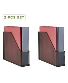 2 Piece Mesh Magazine File Sorter, File Box