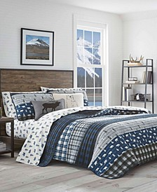 Blue Creek Plaid Quilt Set, Full/Queen