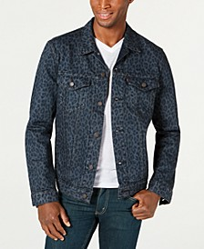 Men's Cheetah Print Trucker Jacket