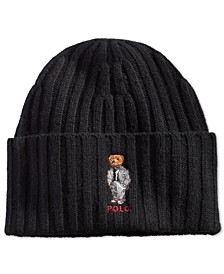 Men's Polo Bear Chalk-Stripe Hat