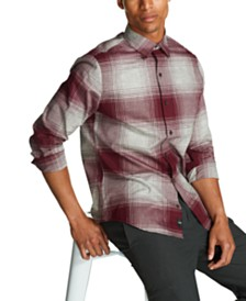 DKNY Men's Glen Plaid Shirt