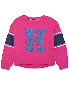 Tommy Hilfiger Big Girls Logo-Print Sweatshirt