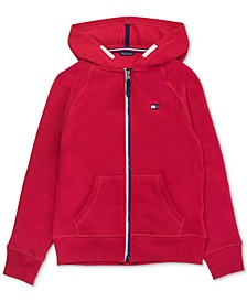 Big Girls Zip-Up Heart Hoodie