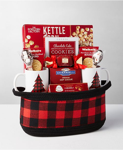 Design Pac Buffalo Plaid Gift Basket