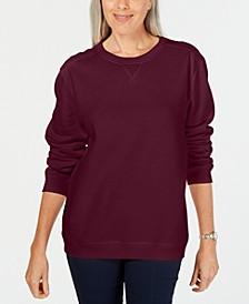 Petite Crewneck Fleece Sweatshirt, Created for Macy's