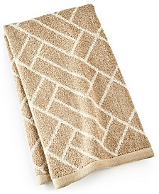 "Block Geo Cotton 16"" x 30"" Hand Towel, Created for Macy's"