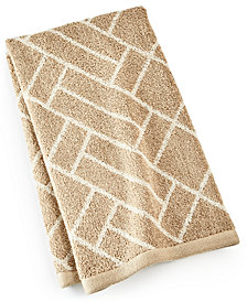 "Hotel Collection Block Geo Cotton 16"" x 30"" Hand Towel, Created for Macy's"