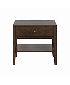 Lompoc 1-Drawer Nightstand with USB Charging Cables
