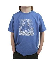 Big Boy's Word Art T-Shirt - Popular Horse Breeds