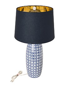 Glitzhome Ceramic Table Lamp with Fabric Shade