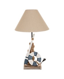 Wooden Coastal Table Lamp