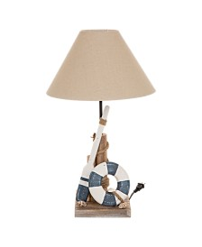 Glitzhome Wooden Coastal Table Lamp