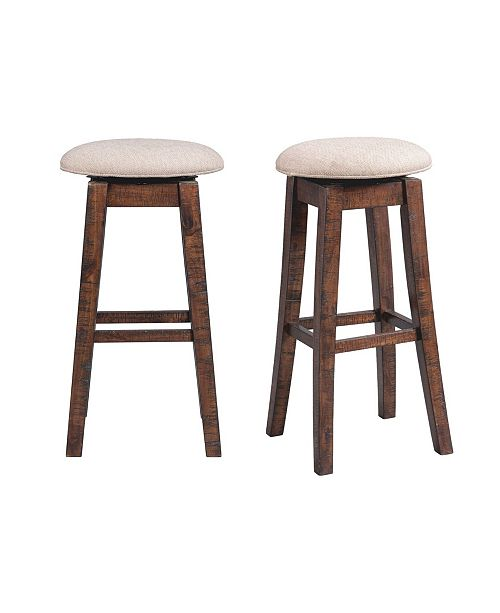 "Picket House Furnishings Dex 30"" Swivel Backless Bar Stool Set"