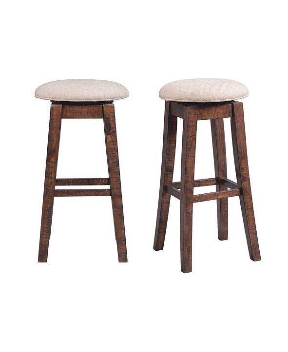 "Picket House Furnishings Dex 30"" Swivel Backless Bar Stool Set"