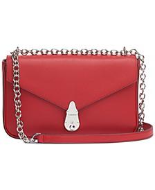 Lock Leather Shoulder Bag