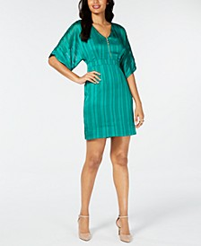 Dolman-Sleeve Necklace Mini Dress