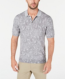 Men's Paisley Supima Cotton Polo Shirt, Created for Macy's