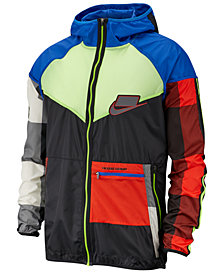 Nike Men's Sport Clash Windrunner Colorblocked Packable Jacket