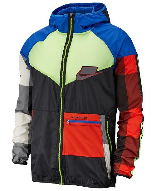 Nike Men's Sport Clash Windrunner Colorblocked Packable Jacket
