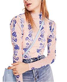 Free People Amber Floral-Print Sheer Top