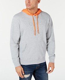 GUESS Men's Roy Colorblocked Embossed Logo Hoodie