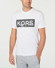 Michael Kors Men's Textured Logo Graphic T-Shirt, Created for Macy's