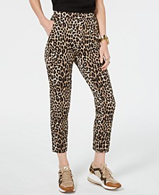 Leopard Print Pull-On Pants, Regular & Petite Sizes