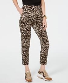 Michael Michael Kors Leopard Print Pull-On Pants