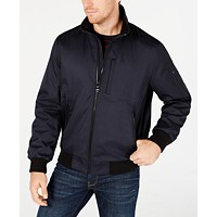 Deals on Calvin Klein Mens Ripstop Bomber Jacket