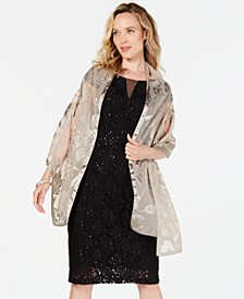 INC Contrast Floral Burnout Wrap, Created for Macy's