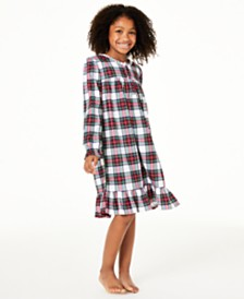 Matching Family Pajamas Kids Stewart Plaid Nightgown, Created For Macy's
