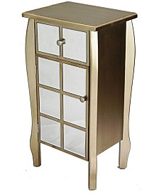 Heather Ann Lana Mirrored Accent Cabinet with Drawer
