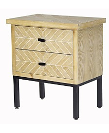 Heather Ann Urban Accent Cabinet with 2 Drawers