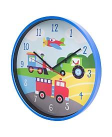 Wildkin Trains, Planes, Trucks Wall Clock