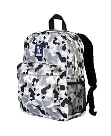 "Gray Camo 16"" Backpack"