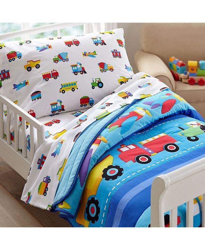 Wildkin - Trains, Planes, Trucks Toddler Lightweight Comforter