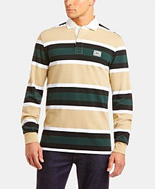 Men's Bold Stripe Rugby Polo Shirt