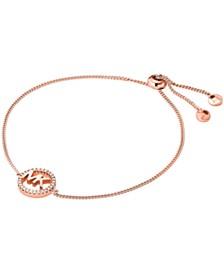 Michael Kors Sterling Silver Kors Love Logo Slider Bracelet