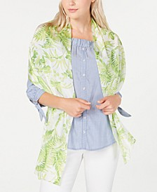 Tropical Toile Silk Oblong Scarf