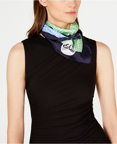 Echo Check It Out Silk Square Scarf